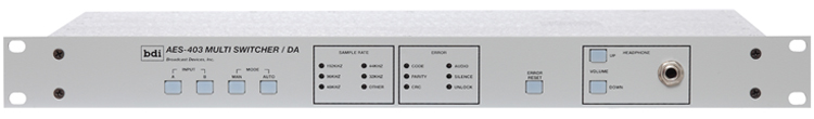 AES 403 Two Input Automatic Multi Switcher