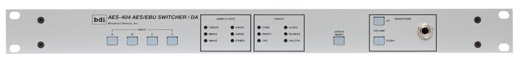 AES 404 Four Input Digital Audio Switcher