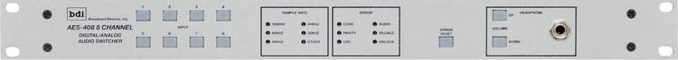 AES 408 8 Input Hybrid Digital Analog Audio Switcher