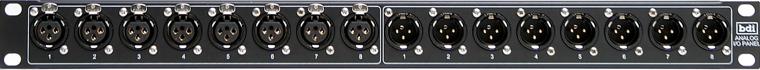 AIP 100 and DIP 100 8 Channel XLR Analog or Digital Panel